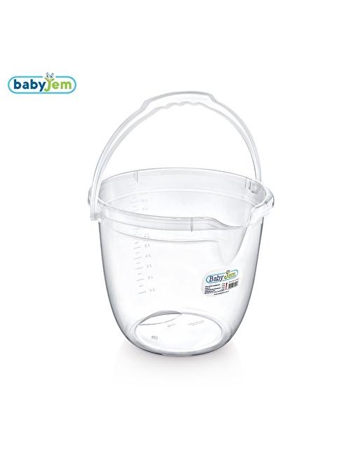 Baby Jem Babyjem Bebek Banyo Kovası Şeffaf  Beyaz